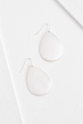 brushed metal teardrop earrings