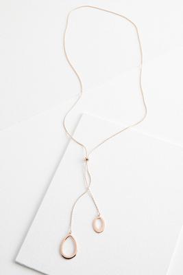 metal pendant y-necklace