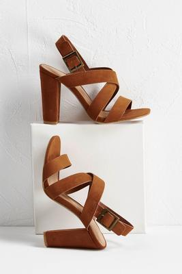 Cross Strap Heeled Sandal