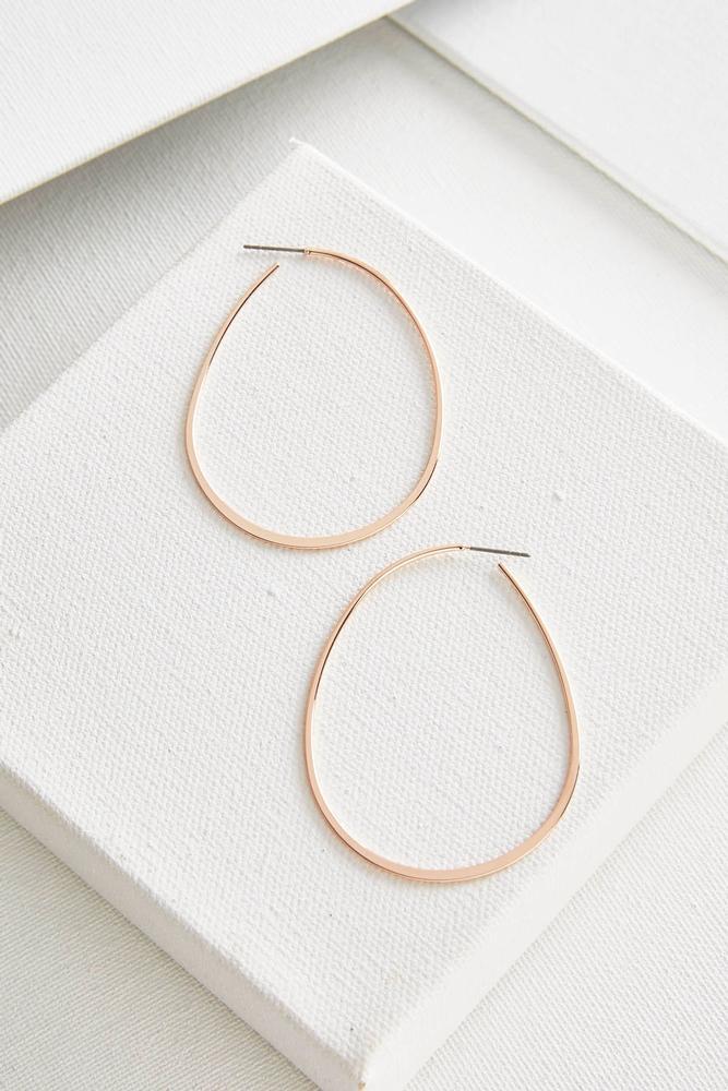 Skinny Oval Hoop Earrings