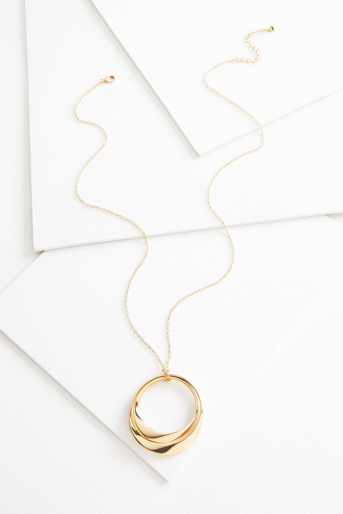 Wavy Double Circle Necklace