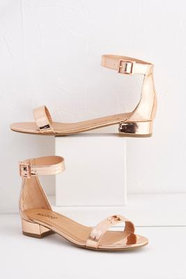 ankle cuff rose gold sandals