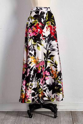 floral full maxi skirt