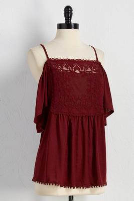 crochet bib bare shoulder top