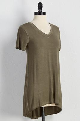 mineral wash high-low tunic