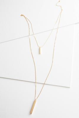 layered bar pendant necklace