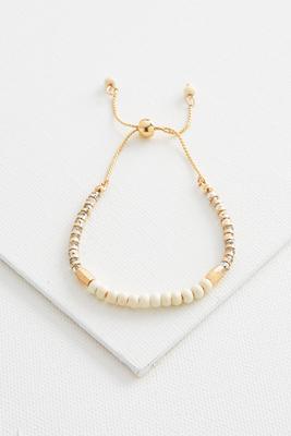 crystal bead slider bracelet