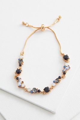 geo glass slider bracelet
