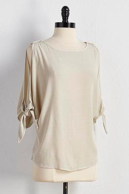 bare shoulder sleeve top