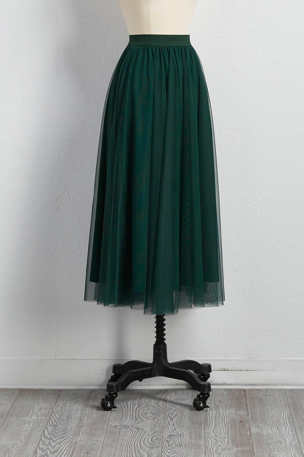 versona midi tulle skirt
