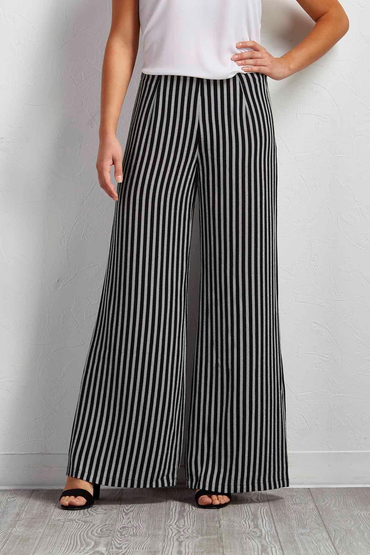 Notch Striped Palazzo Pants