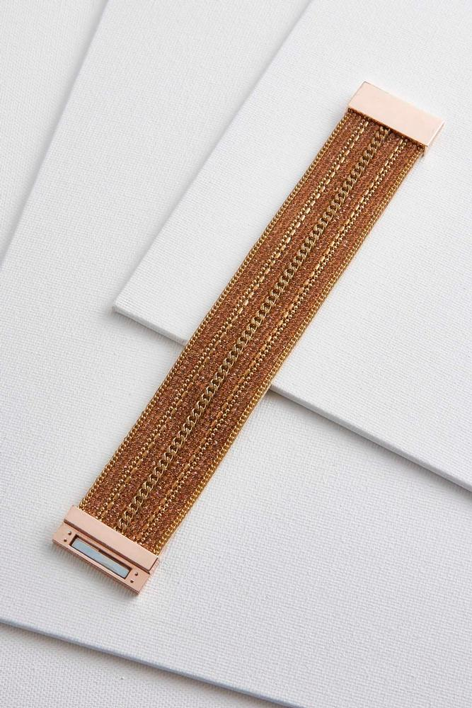 Sparkly Faux Leather Magnetic Bracelet