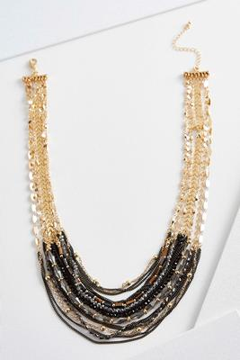 multi chain beaded necklace
