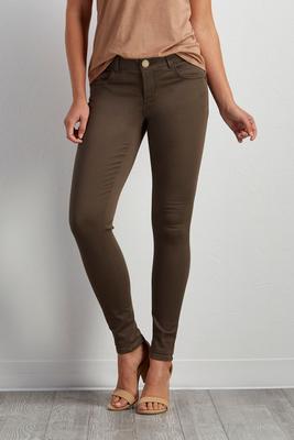 skinny twill pants