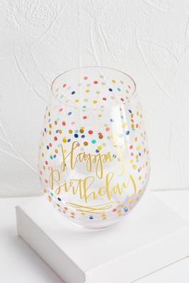 jumbo happy birthday wine glass
