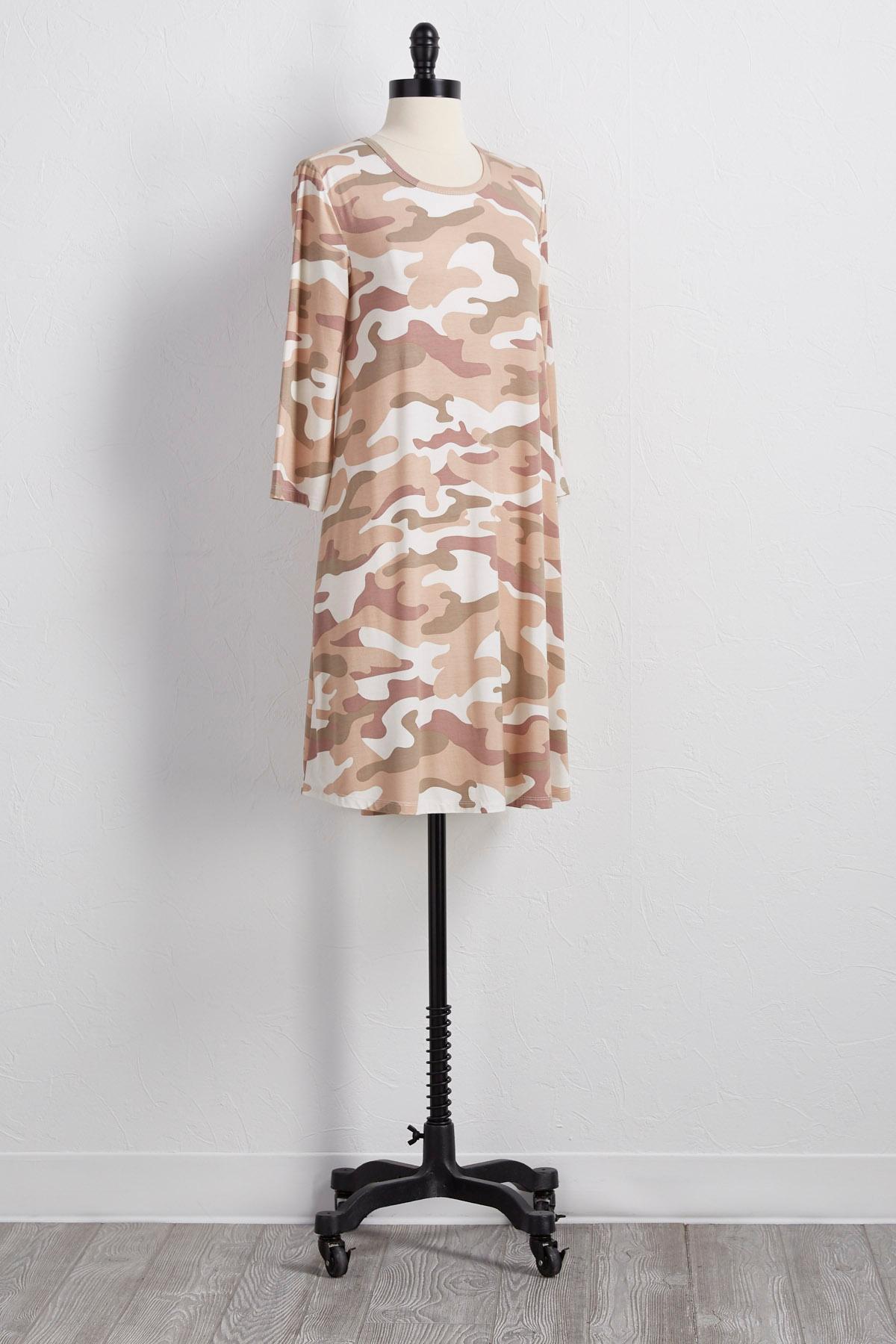Camo T- Shirt Dress