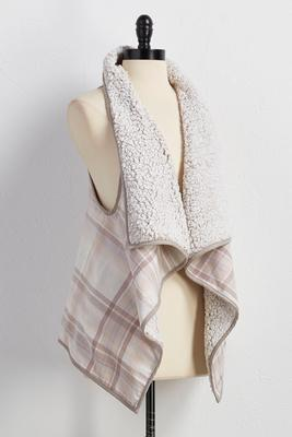 reversible drape vest