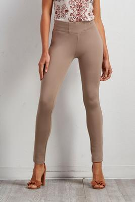 pintucked band leggings