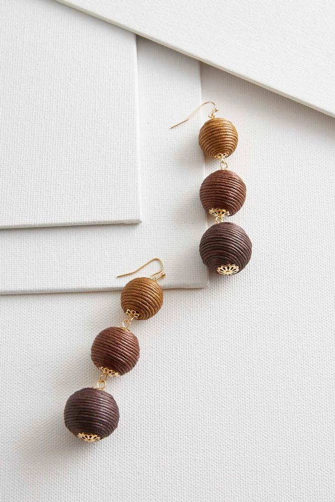 ombre ball dangle earrings s