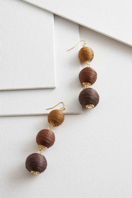ombre ball dangle earrings