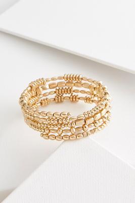 textured metal coil bracelet