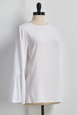 bell sleeve scoop neck top