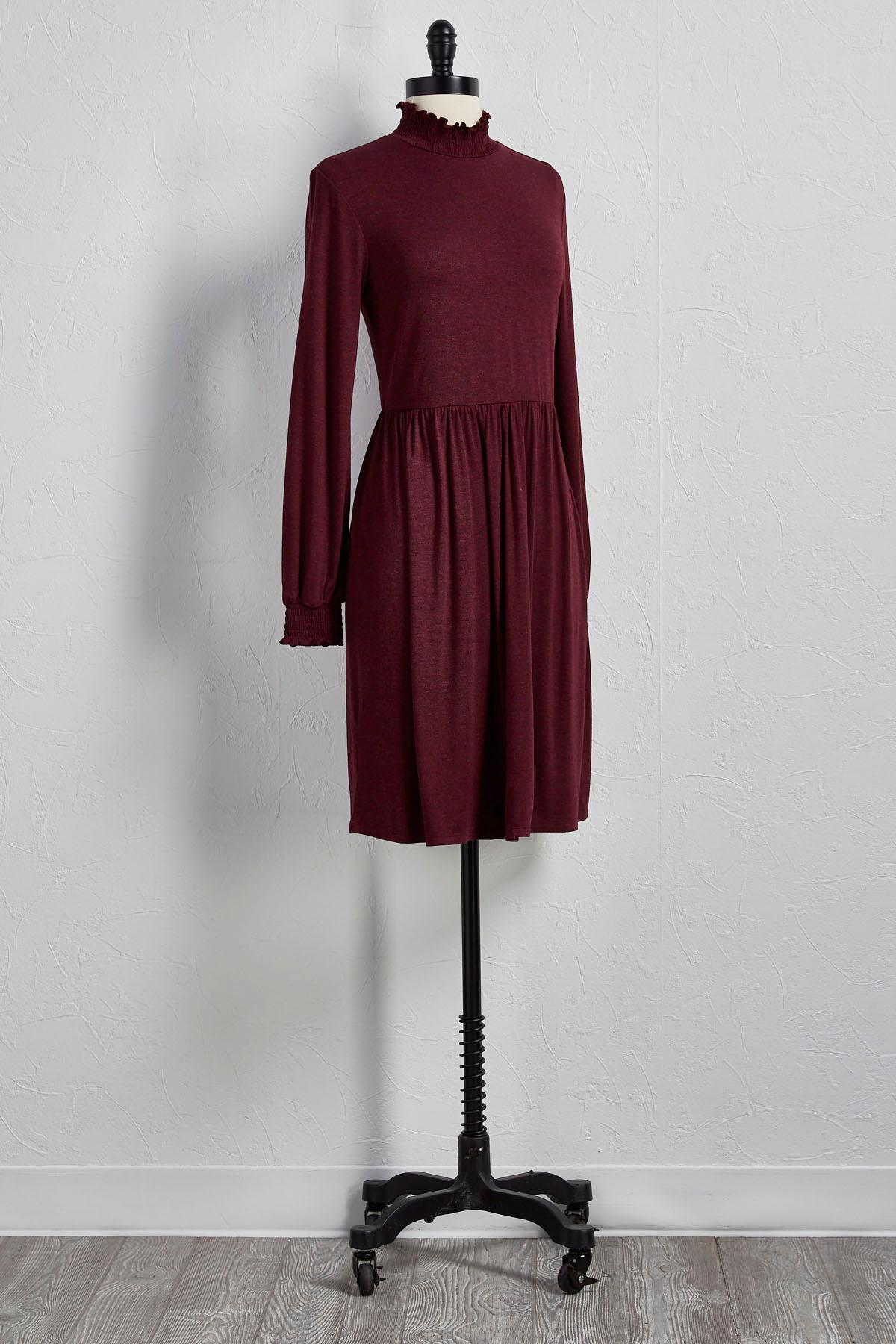 Smocked Fit And Flare Dress