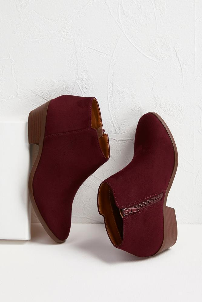 Faux Suede Ankle Boots