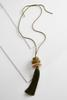 Resin Stone Tassel Necklace