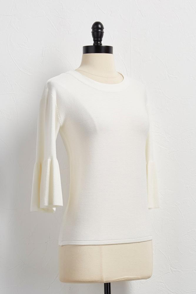 Bell Sleeve Ribbed Sweater