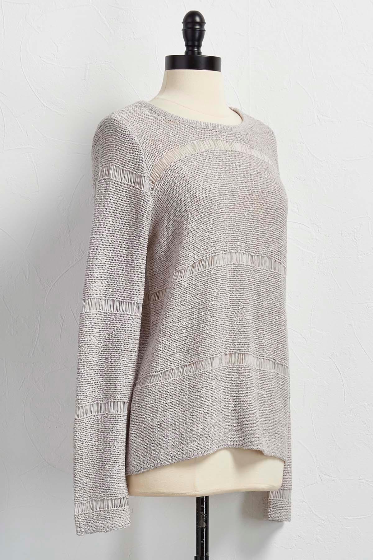 Tape Yarn Pullover Sweater
