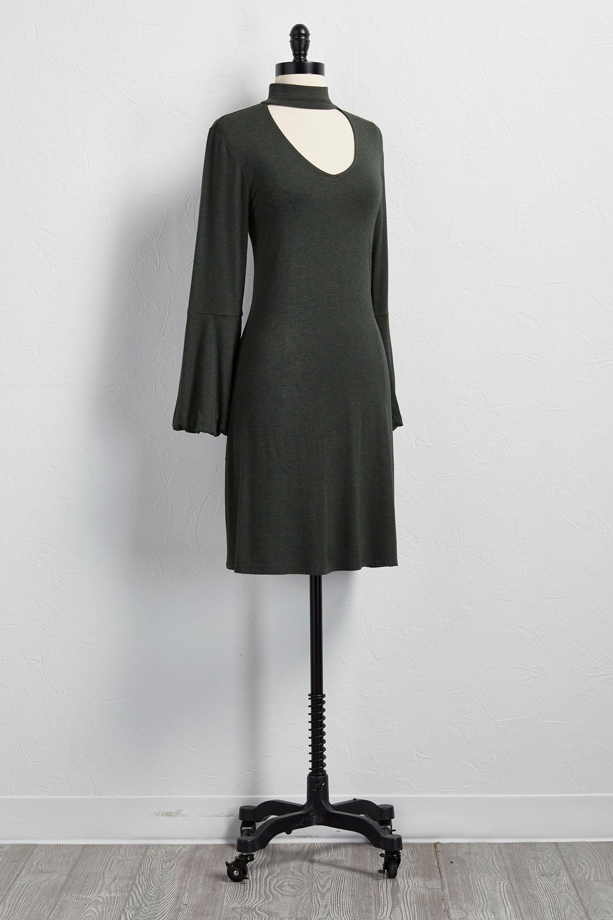 Lantern Sleeve Dress