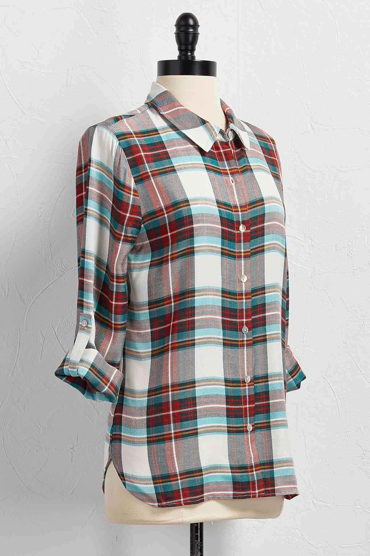 Versona Green Plaid Button Down Shirt