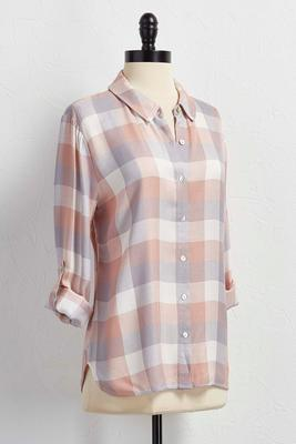 soft plaid button down shirt