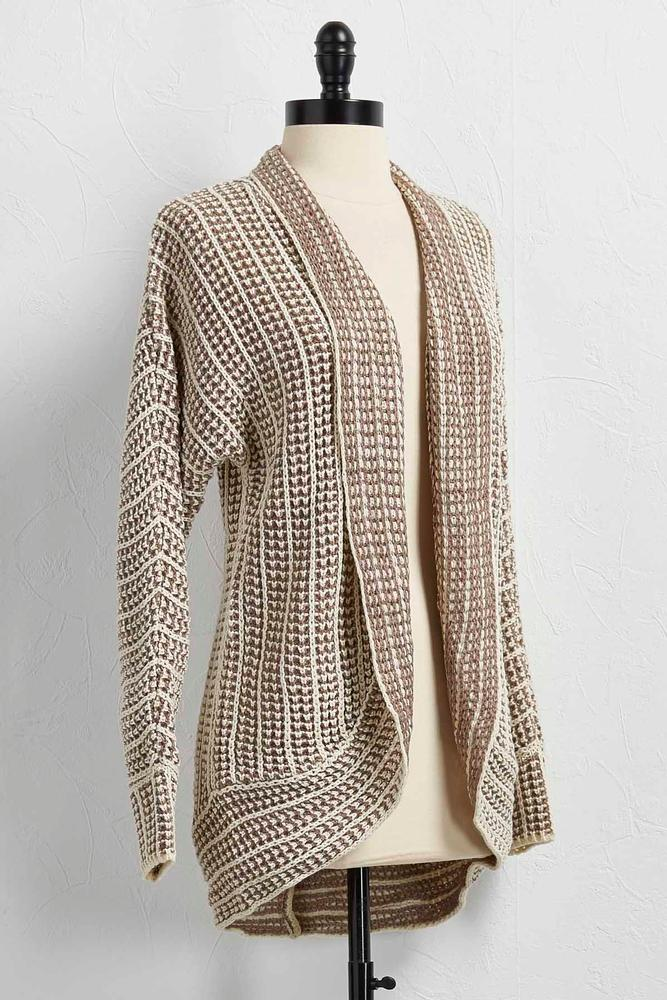 Two- Toned Cable Knit Sweater