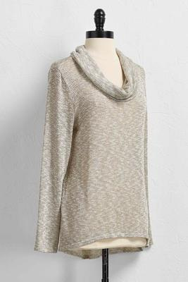 draped cowl neck pullover