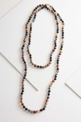 double layered bead necklace