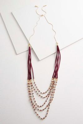 pull string velvet necklace