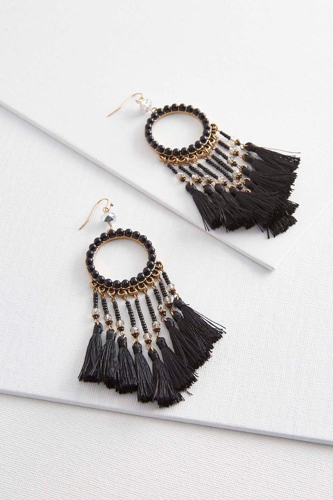 Dream Catcher Tassel Earrings