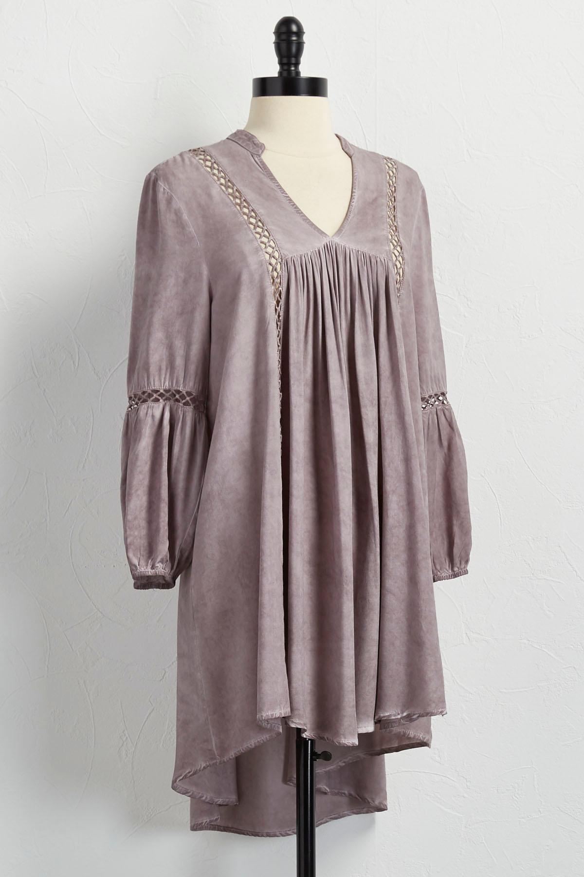 Mineral Wash Bell Sleeve Tunic