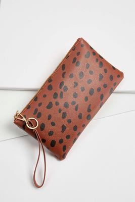 spotted leopard wristlet