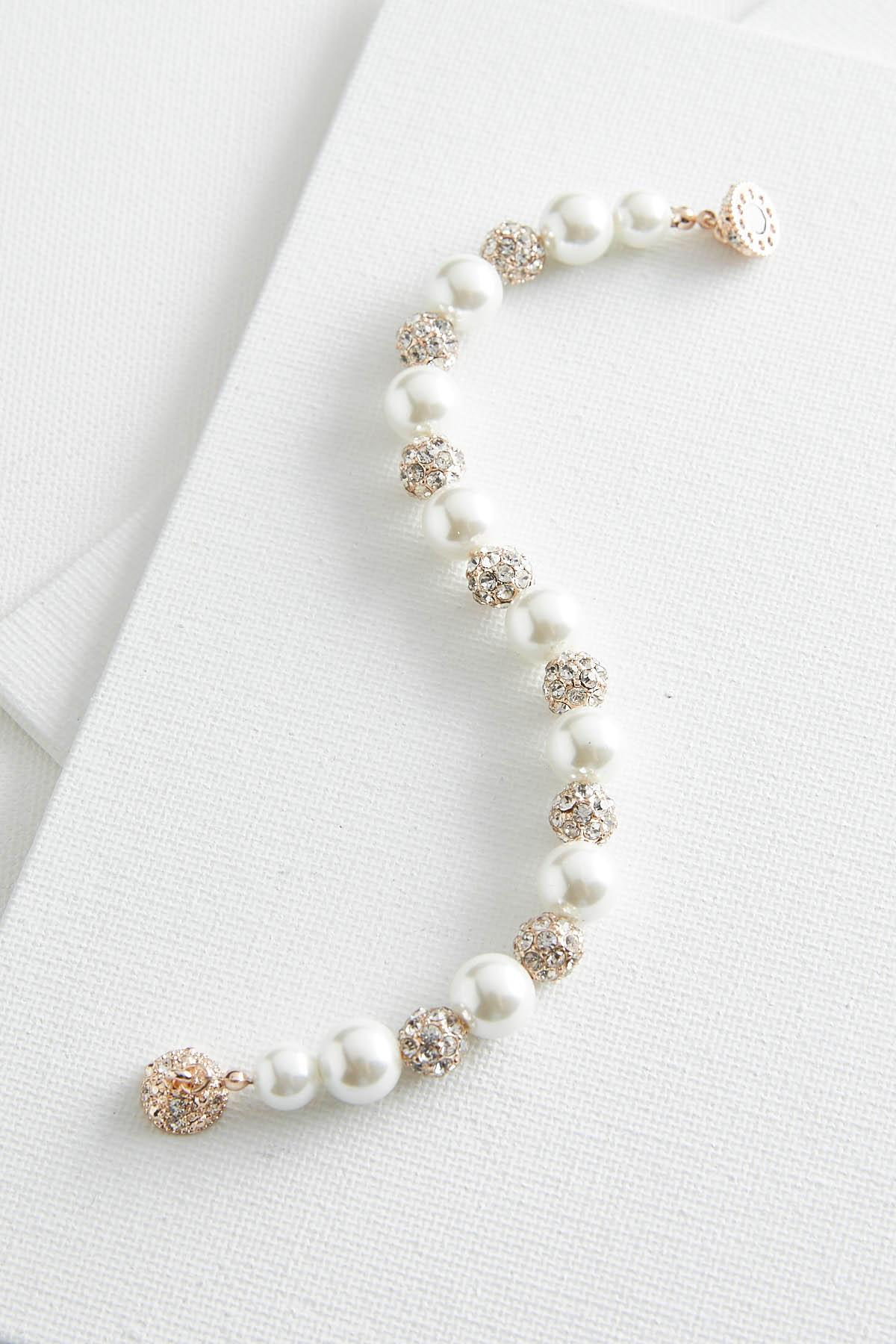 Pearl And Fireball Bracelet