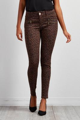 animal print ankle pants