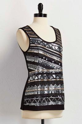 sequin embellished tank