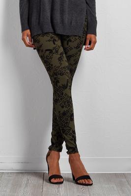 velvet pine print leggings