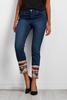 Sequin Embellished Ankle Jeans