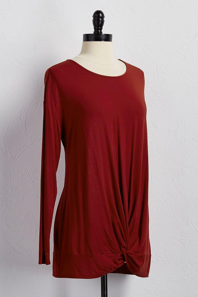 Bamboo Knotted Long Sleeve Tunic