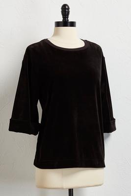 velour bell sleeve top