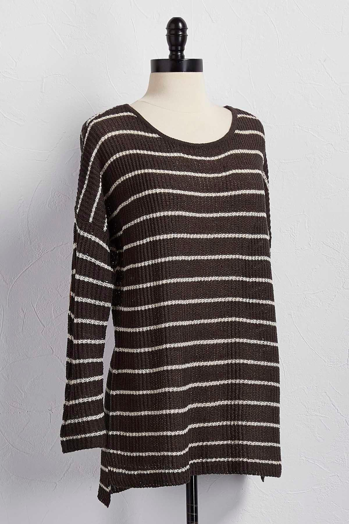 Elbow Patch Sweater Tunic