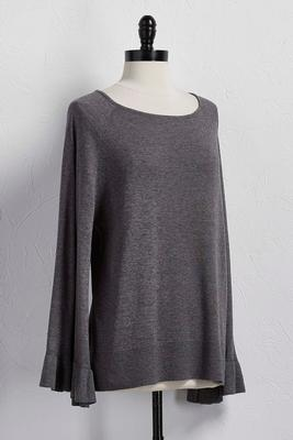 flare sleeve sweater tunic
